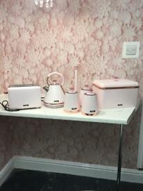 Gorgeous blush pink rose gold kitchen set
