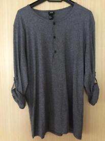H&M long sleeve grey 3 button top - medium. Brand New with original tag