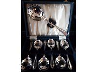 Art Deco set of fruit/dessert spoons