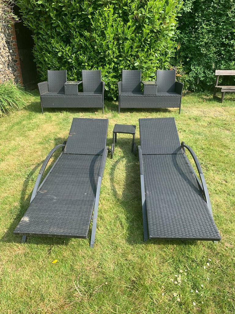 Black rattan garden furniture **SOLD** | in Bury St ...