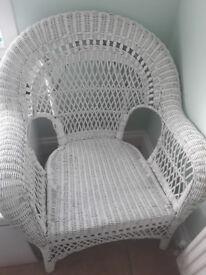 Rattan Chair White