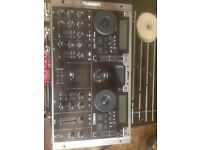 Numark cd dj mixer two cd slots all leads cones with