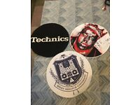 3 turntable slipmats - Technics, QBert, Biggie Smalls