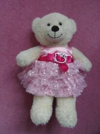 Cream build a bear in a sequinned Hello Kitty dress £5