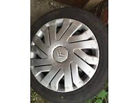 C1 wheel and tyre 155/65/14
