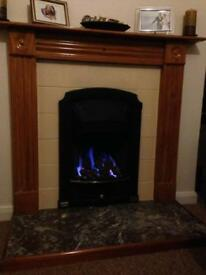 Valour gas fire and surround
