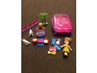 2 mini doll sets with accessories