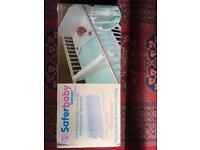 Safer baby sleeper cot divider BLUE. Excellent condition, like new. In box + instructions