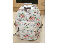 Leaper Waterproof Canvas + PVC Layer School Backpack Cute Floral Laptop Bag Casual Daypack