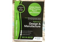 SQA National 5 Design & Manufacture Past Papers book, like new