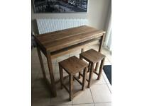 Solid Oak Dining Table / Desk