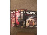 Acoustic Guitar magazine collection.