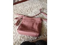 Ladies Handbags, one pink bought from next and one burgundy one fiorelli make