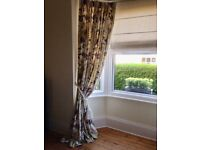 Pair of professionally made bespoke curtains