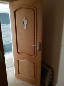 solid oak doors - unpainted