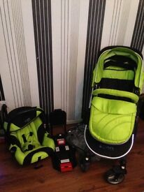 Isafe travel system with car seat and iso base
