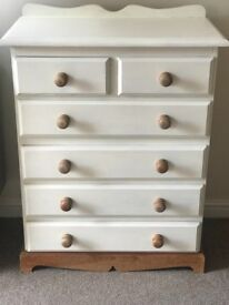 Solid farmhouse style chest of drawers