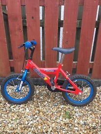 Children's red and blue Silverfox Champion Bike.
