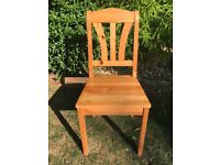 4 x Ikea wooden dinning room chairs