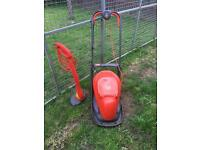 Currently sold SSTC Flymo lawnmower & strimmer