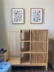 Mini wardrobe with shelves
