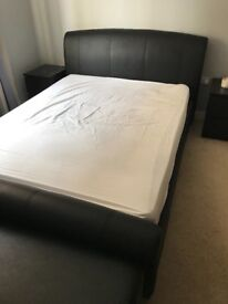 Leather bedframe king
