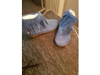 Girls blue boots BRAND NEW size 1