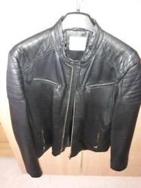 Selected Homme black leather jacket xl soft touch lamb leather mint