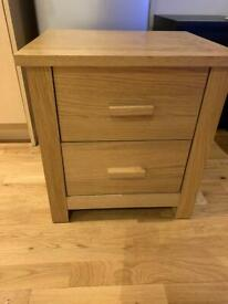 Argos bedside 2 drawers cabinet nightstand collection free