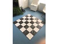 Checkered Porcelain floor tiles 45cm x 45cm (9 tiles in total, roughly 1.8m2)