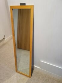 Free - full length wood effect mirror