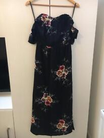 Missguided floral maxi dress size 8