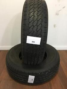 PNEUS ÉTÉ USAGÉS 225/75R15 22575R15 GENERAL TIRE  GRABBER AW (2 DE DISPONIBLES)