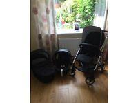 Mama & Papas Pram Carry cot & car seat