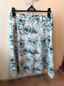 Honor millburn skirt and blue jacket size 12