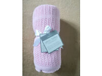 Kiddicare Cot/Cotbed Cellular Blanket Pink (New with tag)