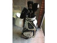 Lynx golf clubs and carry bag for sale