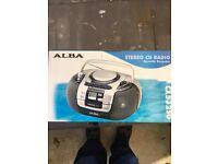 ALBA STEREO CD RADIO CASSETTE RECORDER CX532SG