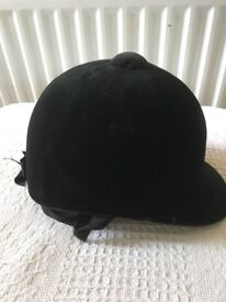 Child's Riding hat and back brace in superb condition hardly worn
