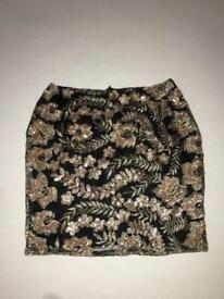 Ladies Boohoo Sequin Skirt UK 10