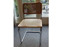 Cesca style cane seated chair