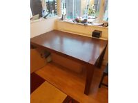 Solid Oak 6 seater dining table (walnut)