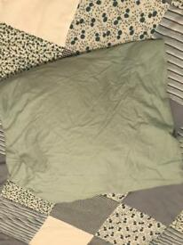 Duck egg blue fitted double sheet
