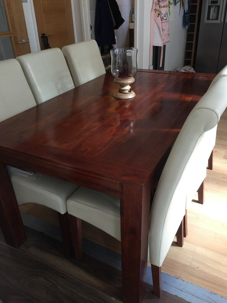 Walnut Dining Table And 6 Chairs In Solihull West Midlands Gumtree