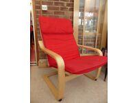 Ikea POÄNG Red Chair