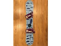 Stepchild Snowboard with Bag, Rear Entry Bindings and Boots