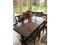 Dining table and 4 chairs - FREE