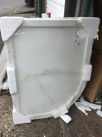 Off set quad shower tray 1200x900x40 left hand £50