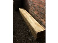 Pressure treated wood fence boards 2400mm(L) x 150mm(W) x 16mm(T)