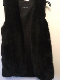 Black Faux Fur Gilet from new Look